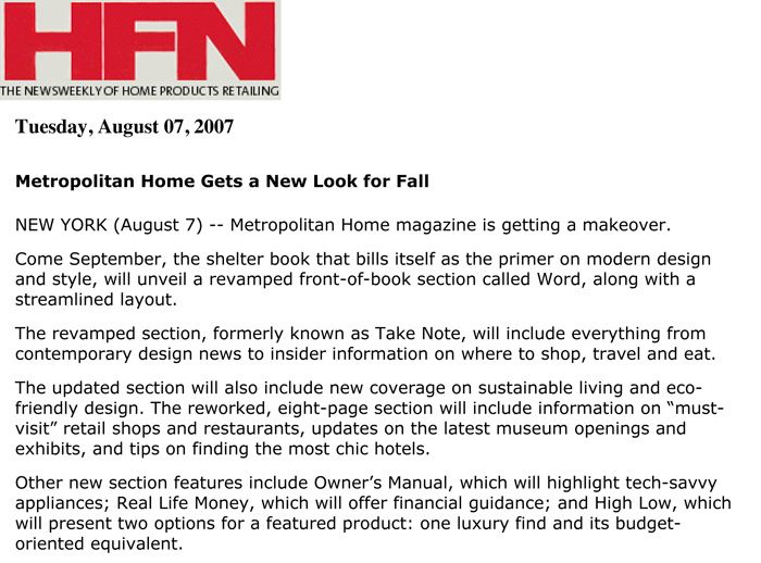 Home Furnishings News